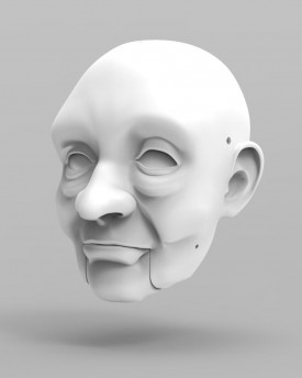3D Model of Aesop head for 3D print 180 mm