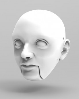 3D Model of young man's head for 3D print 150 mm