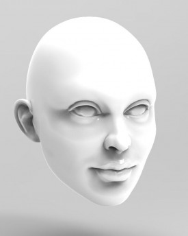 3D Model of a girl's head for 3D print