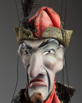 Antique marionette of a Chinese merchant
