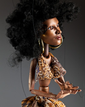 Afro Dancer - performance marionette - 50pcs limited edition