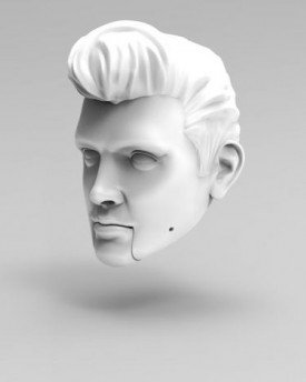 Elvis Presley head printed out