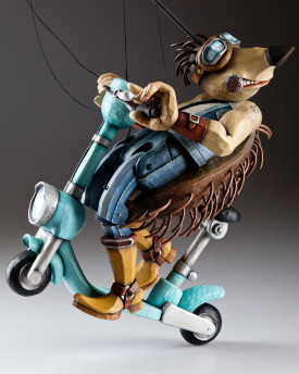 Scooter Hedgehog marionette