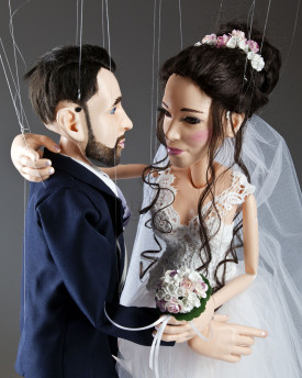 Portrait wedding marionettes - 60cm (24inch) - basic