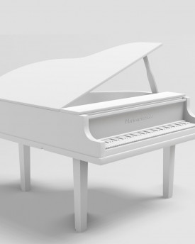 Piano model for 3D printing