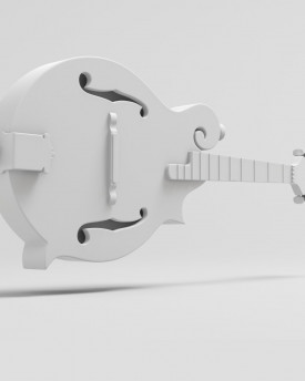 Mandolin model for 3D printing