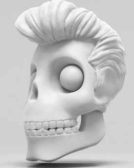 Elvis Presley skull - model for 3D printing