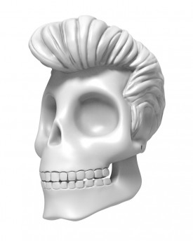 3D Model of Elvis Presley skull for 3D print 180 mm