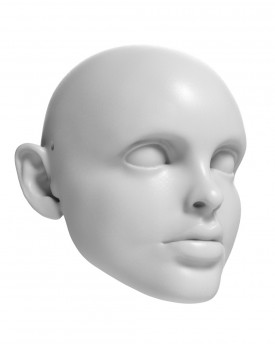3D Model of Dorothy (Judy Garland) head for 3D printing